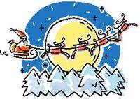 Santa across moon_color