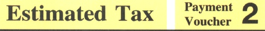 Estimated tax voucher 2