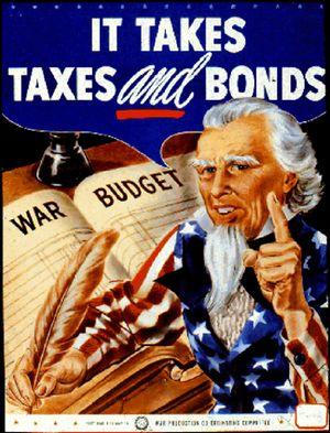 WWII war bonds poster