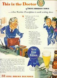 Pabst beer wartime ad