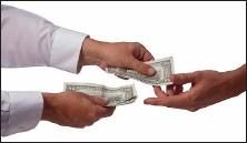Handing over money (5)