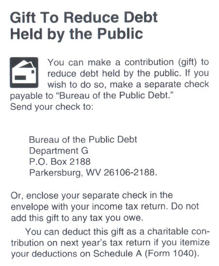 Public debt deduction