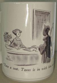 NewYorker Death-Taxes mug