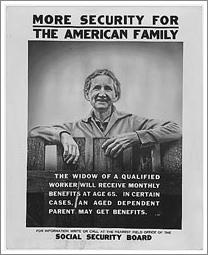 Social security poster c1935