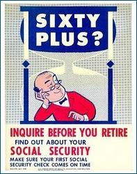 Social security poster c1959