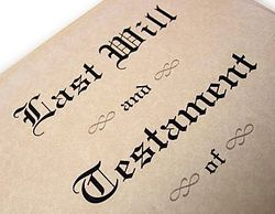 Last will and testament copy