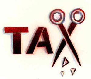 Tax Cuts scissors