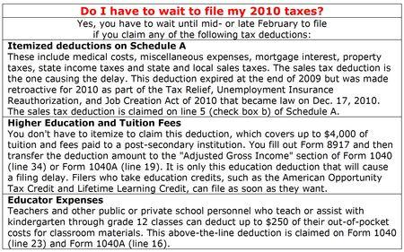2011-filing-delay-2010-tax-deductions