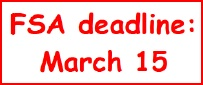 FSA March 15 grace period deadline