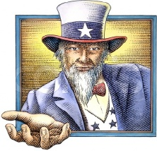 Uncle sam with hand out (2)