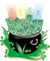 Leprechaun pot of money