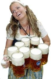 Oktoberfest beer server