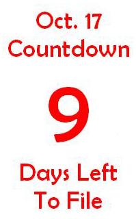 October 17 countdown 9