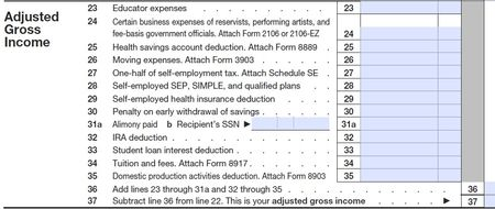 Above theline deductions 2010 Form 1040