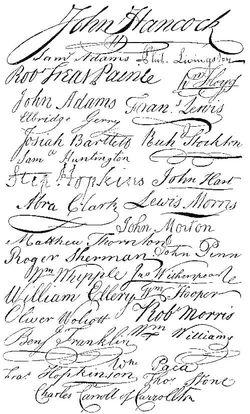 Declaration signatures