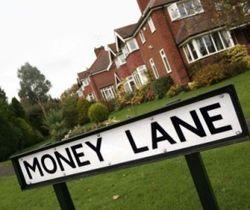 Money lane sign