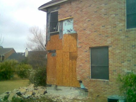 House hit by auto SKB photo
