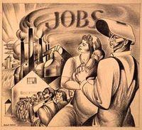 Vintage workers drawing