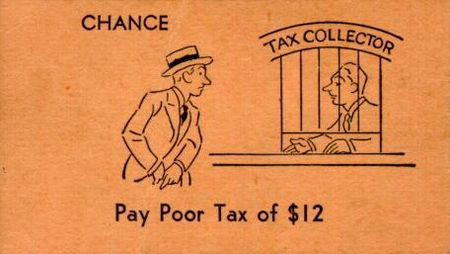 Vintage Monopoly Chance poor tax card