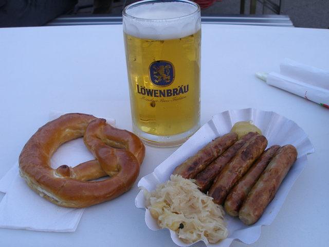 German beer festival food