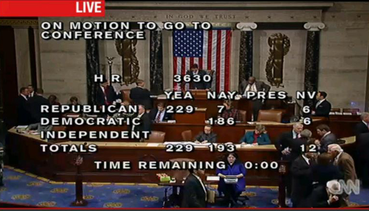 House vote on GOP payroll tax HR 3630