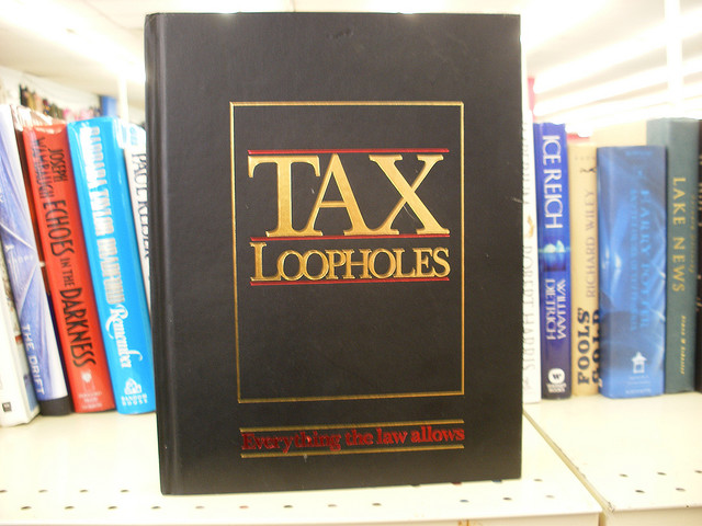Tax loopholes spike55151 via Flickr