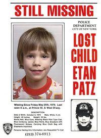 Etan Patz missing poster NYC Police 1979