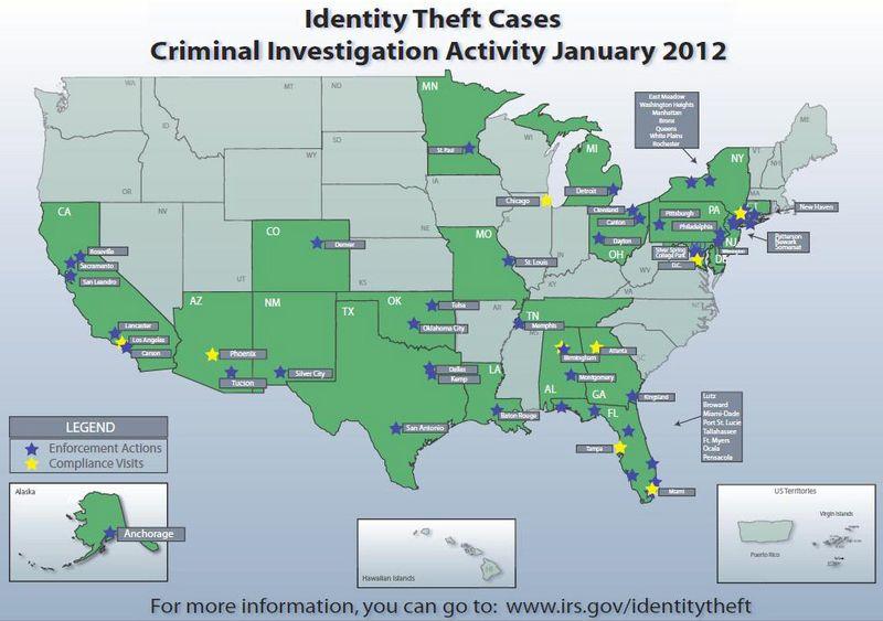 IRS-DoJ ID theft investigation January 2012