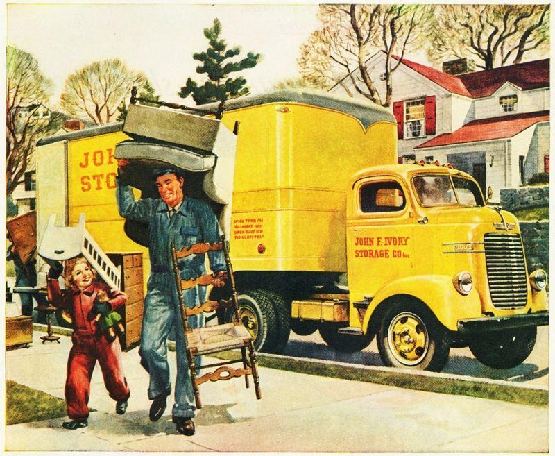 Vintage moving van aldenjewell flickr large