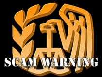 IRS scam warning logo