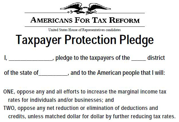 Americans for Tax Reform No-Tax pledge