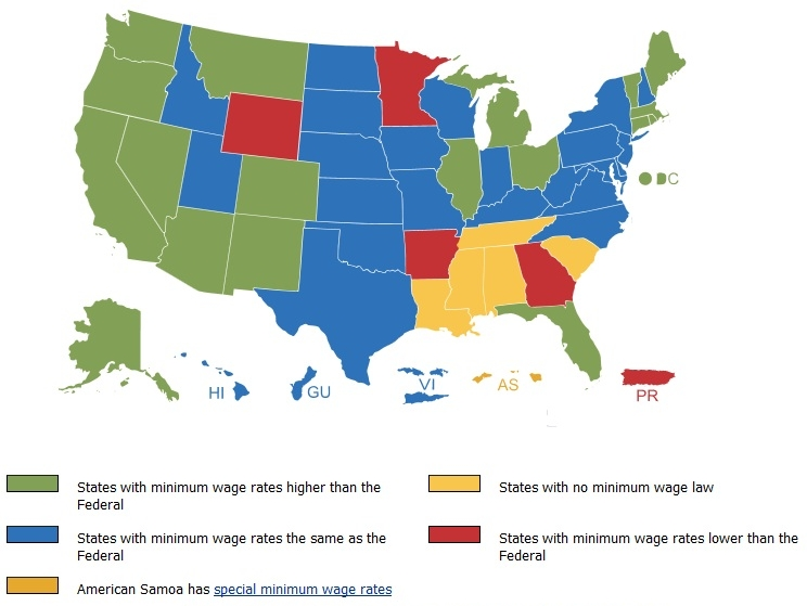 Happy Th Birthday Minimum Wage Check Out The Federal Tax - States with no income tax map