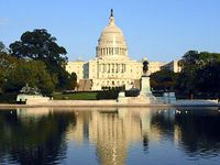 Capitol and reflecting pond