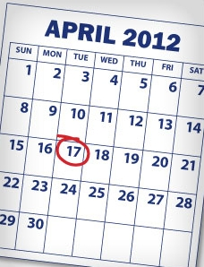 April 17 2012 tax filing deadline
