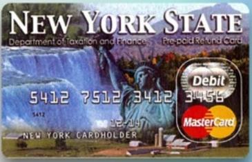 NY refund prepaid debit card