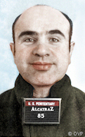 Al Capone Alcatraz mug shot_ AZ-85