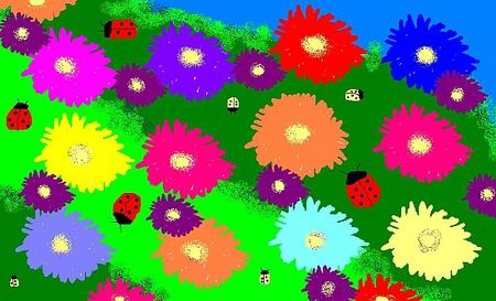 Flowers and ladybugs via Gather