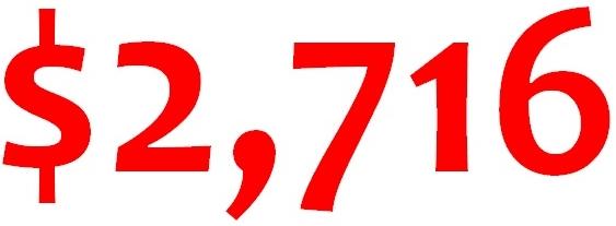 2716 average IRS refund through 042712