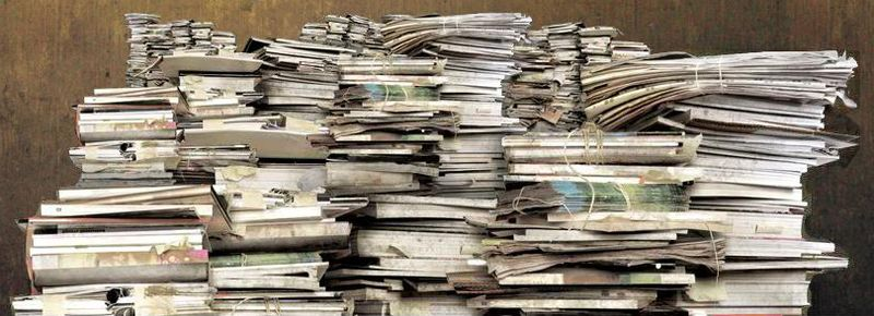 Stacks of documents from Hoaders A&E TV