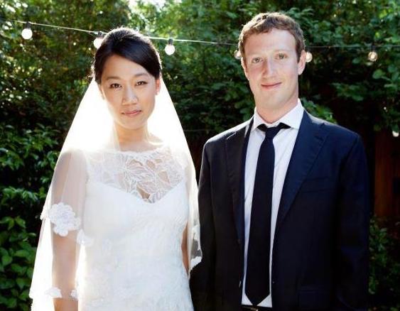 Mark Zuckerberg Priscilla Chan wedding photo 051912 via Facebook