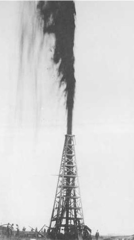 Lucas Gusher_Spindletop Hill_South of Beaumont_Texas_1901_Wikimedia-Commons