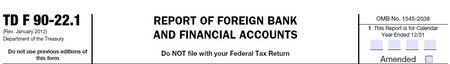 TD F 90-22-1 FBAR filing
