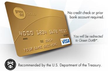 Treasury prepaid tax refund debit card