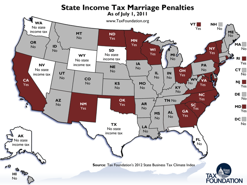 State income tax marriage penalties_Tax Foundation