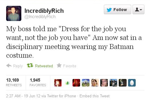Job attire advice uh-oh Batman