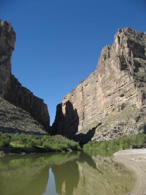 US-Mexico border in the Texas Big Bend