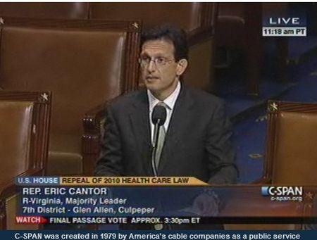 Cantor debates Obamacare repeal July 11 2012_C-SPAN