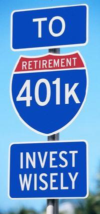 401k plan road sign cropped