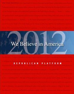 Republican 2012 Platform cover