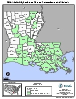 FEMA Louisiana disaster declaration map